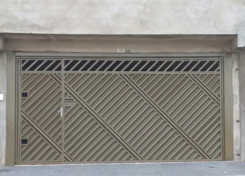 Comprar Portão Basculante de Aço Valores Jardim Iguatemi - Comprar Portão Basculante Dobrável