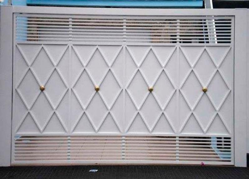 Instalação de Portão Eletrônico Basculante Campo Grande - Portão Eletrônico de Correr Duplo