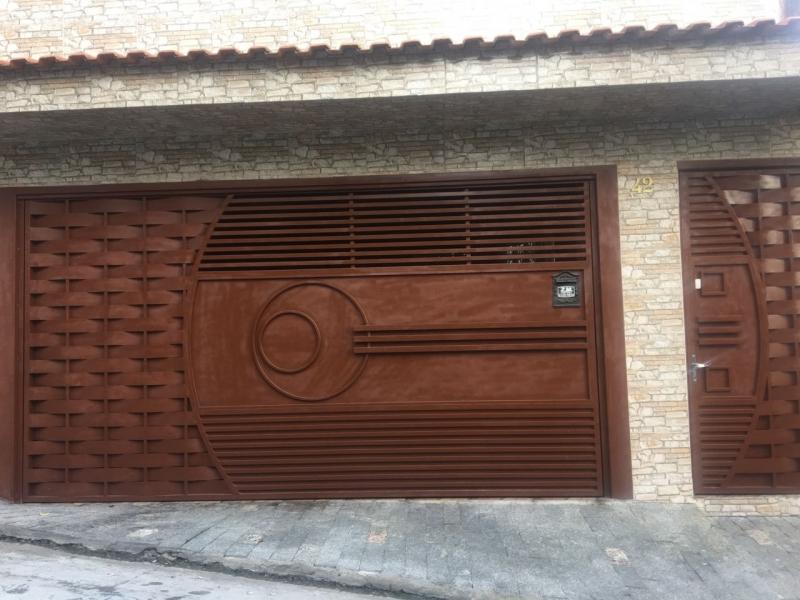 Instalação de Portão Eletrônico Galvanizado Parelheiros - Portão Eletrônico Duas Folhas de Abrir