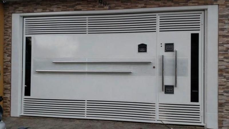 Onde Encontrar Empresa de Portão Automático de Aço Vila Bancária - Empresa de Portão Automático de Garagem