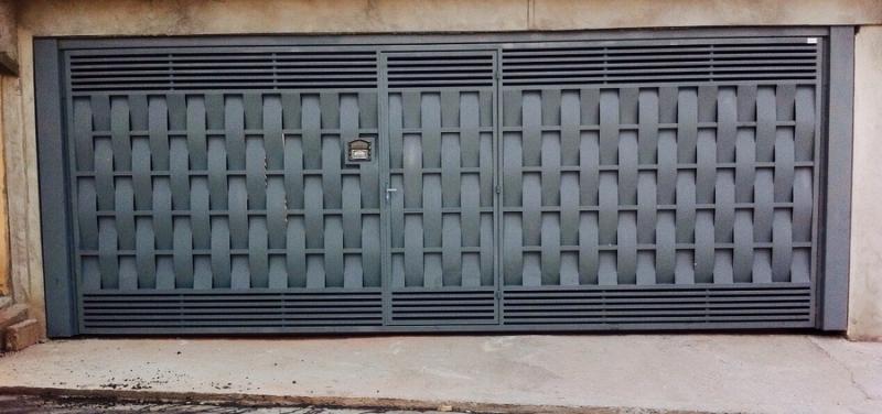 Portão Eletrônico Duas Folhas de Abrir Preço São Mateus - Portão Eletrônico de Garagem