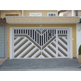 comprar portões articulados com social embutido Campo Belo