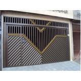 empresa para comprar portão articulado com social embutido Campo Belo