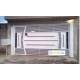 empresa para comprar portão automático branco Jardim Adhemar de Barros
