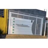 fabricante de portão de ferro com vidro Vila Primavera