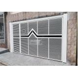 instalação de portão articulado para garagem Campo Belo