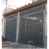 portão articulado com social embutido preço Mandaqui