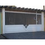 portão articulado de ferro galvanizados valor Jardim Imperador