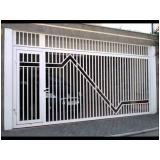 portão articulado de ferro galvanizados Embu Guaçú