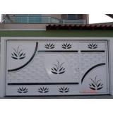 portão de ferro basculante José Bonifácio