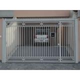 portão de ferro de correr pequeno valores Embu Guaçú