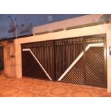 portão deslizante de duas bandas Vila Marcelo