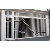 portão articulado lateral