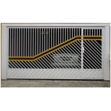 portão articulado ferro galvanizado